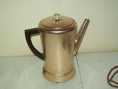 Vintage West Bend Electric Percolator Coffee Pot 8 Cup Old