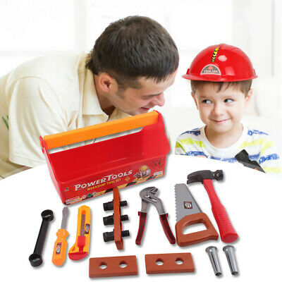 18pcs Toddler Boy Toy Tool Box Construction Pretend Play Girl Kids Learning Game