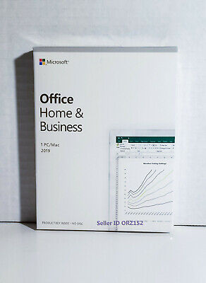 MS Office HOME & BUSlNESS 2019 Retail for 1 PC/Mac