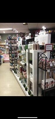 shop display stand Double Sided With Glass Shelves