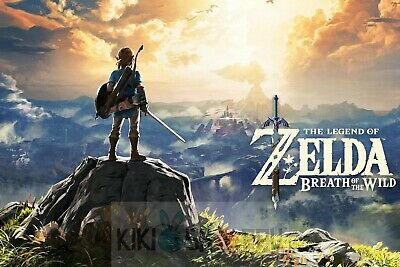Poster A3 The Legend Of Zelda Breath Of The Wild Link Videojuego Videogame 16
