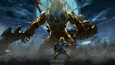 Poster 42x24 cm The Legend Of Zelda Breath Of The Wild Link Videojuego 17