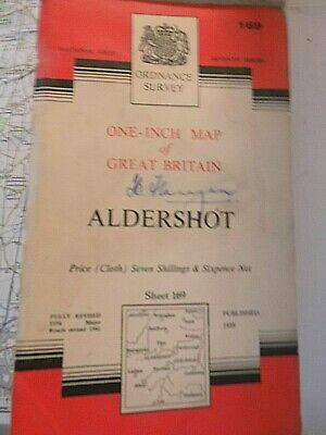 Aldershot & The Military Town,North To Windsor Great Park,Ordnance Map 1956-62