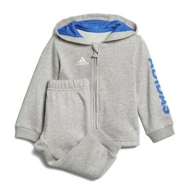 Adidas Infants Linear Tracksuit Joggers kids Boys GIrls Top And Jog Bottoms