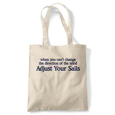Adjust Your Sails, Tote - Reusable Shopping Canvas Bag Gift
