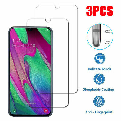 3PCS 9H Tempered Glass Film Protector for Samsung Galaxy A40 A70/A6 A80 Screen