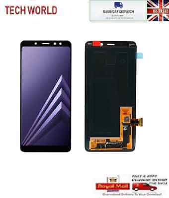 For Samsung 2018 A8 Sm-A530F A530Ds Galaxy Screen Amoled Lcd Display Black Uk