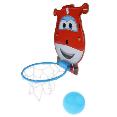Mini Super Wings Jett Backboard Set, Indoor Basketball Kit for Kids Math Toy