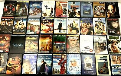 Lot of 62 Used ASSORTED DVD Movies - CLASSICS Action Drama Romance Comedy