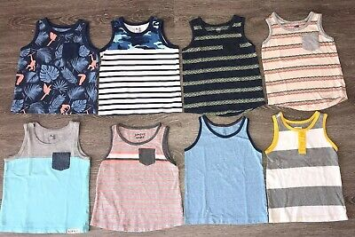 Gap Cat And Jack Jumping  Bean Old Navy Tank Top Lot Size 2T Blue Gray Yellow