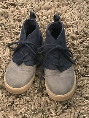 Toddler BOYS GAP Boots Gray And Blue Size 10
