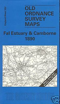 Old Ordnance Survey Map Fal Estuary & Camborne 1890