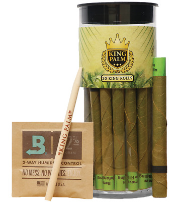 King Palm Wraps (20 x KING SIZE Rolls) Authorized Seller + FREEBIES