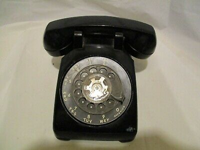 Vtg Western Electric Bell System 1962 Black Rotary Dial Phone Telephone Untested