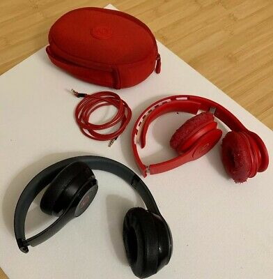 Lot Of Two Beats By Dre Solo Headphones Sold AS-IS Tested Working Flawed