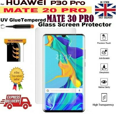 UV Glue Liquid Screen Protector Tempered Glass For Huawei Mate 20 PRO P30 PRO UK