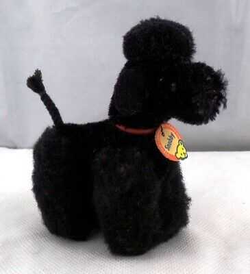"** ANTIQUE STEIFF SNOBBY POODLE 4"" TALL VINTAGE 1950's **"
