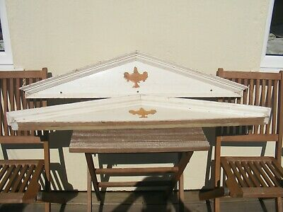 Large Wooden Ornate Furniture Cornice Frieze Timber Pine Architectural Salvage