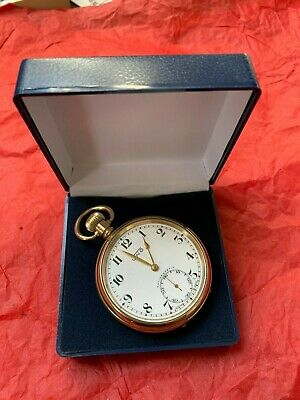 Antique/Vintage UNO Pocket Watch Gold Plated Swiss Made Superb Condition