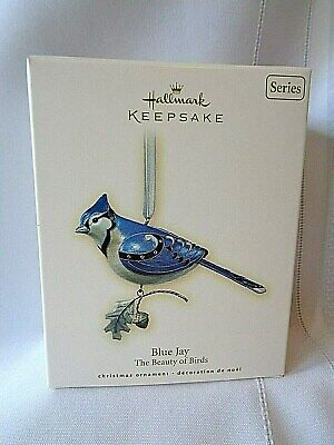 Hallmark Keepsake 2007 Beauty of Birds Blue Jay Christmas Ornament MINT IOB