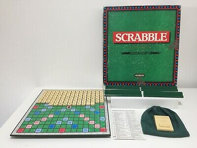 SCRABBLE DE LUXE Deluxe 1988 Board Game With Turntable Spears (Faulty Timer)