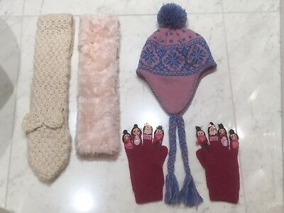 GIRLS MONSOON - SCARVES x2 & GLOVES(10-13YR)+ MUSTO HAT INCA 1 Size.RRP £71.VGC