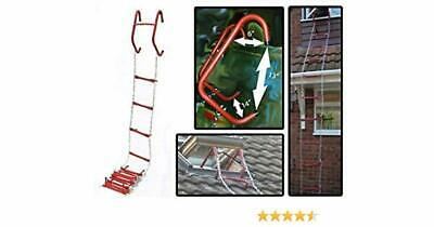 Fire Escape Evacuation Ladder - FREE DELIVERY - Meets UK Regulations