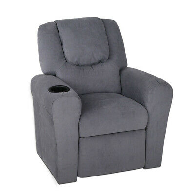 NEW Grey Orly Kids Reclining Armchair - DwellKids,Kids Tables & Chairs