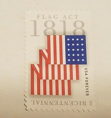 1 - USPS Stamp 2018 50c Forever USA Flag Act of 1818, 200th Anniversary Mint