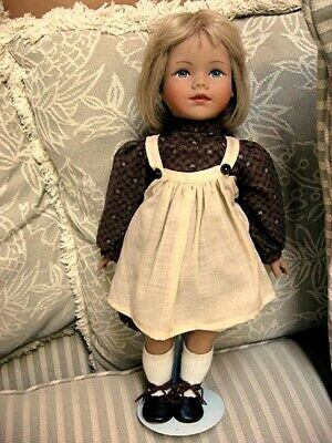 "Vintage 1980s Heidi Ott 18"" Eugenia"" Doll Made in Switzerland"