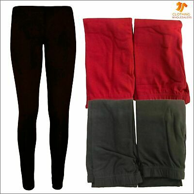 2 PACK NEW Girls Leggings Plain Cotton Full Length Legging Party Casual Pants