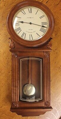 Howard Miller 77th Anniversary Pendulum Wall Clock Model Excellent Model 625-290