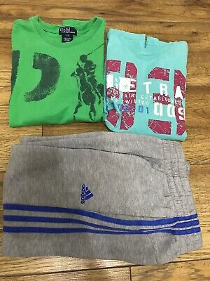 Boys Age 7-8 Years Clothes designer polo top Jumper Joggers bundle
