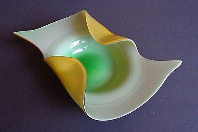 Vintage   CANDYDISH   Curled Glass DISH  CENTERPIECE    You decide!