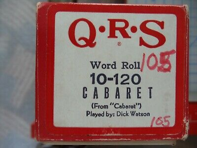 QRS  88 note Player piano roll (9) 10-120 cabaret