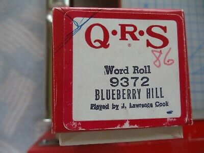 QRS  88 note Player piano roll (9) 9372 blueberry hill
