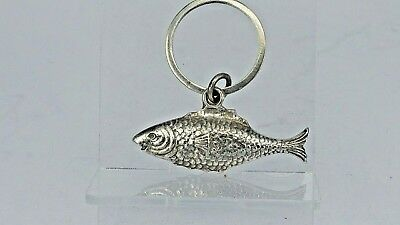 rare 1934 solid silver fish sauce condiment bottle label tag