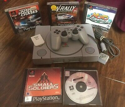 Original Sony PlayStation 1 PS1 Console Games 2 Controllers Bundle Memory Card