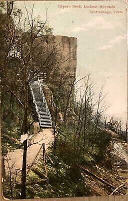 1911 Us Postcard Ropers Rock Lookout Mountain Chattanooga Tennessee