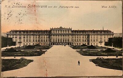 1912 Real Photo of SCHONBRUNN PALACE VIENNA AUSTRIA POSTCARD RPPC