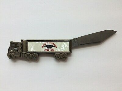 Vintage Harley Davidson 1978 Knife Advertising Truck Colonial Prov USA 75th 75