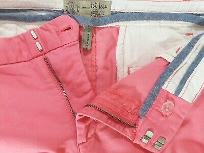 Fat Face Pink Corabell Cotton Elastane Mix Trousers Summer Office Size 16