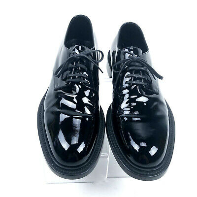 b68cab54d8 SAINT LAURENT BLACK Patent Leather MONTAIGNE 25 DERBY Formal Shoes ...