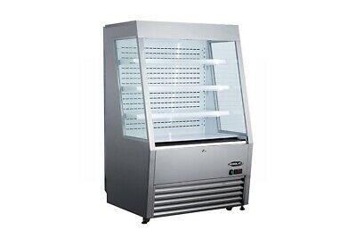 "Kool-It KOM-36 SS 36"" Vertical Open Display Case Merchandiser"