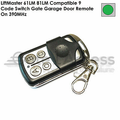 LiftMaster 61LM 81LM Compatible 9 Code Switch Gate Garage Door Remote On 390MHz