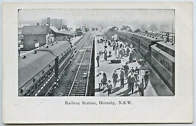 C.1910 Pt Npu Postcard Of A Very Busy Hornsby Railway Station Nsw Good Cond. C26