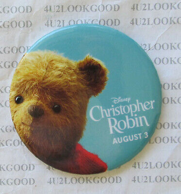 Disney Parks CHRISTOPHER ROBIN Movie Release Button Pin  2018   NEW