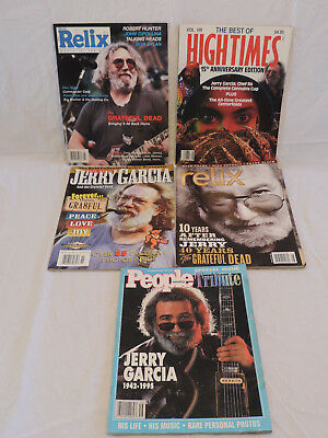 Grateful Dead Jerry Garcia magazine collection Lot of 5