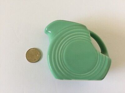 Fiesta by HOMER LAUGHLIN 4oz Disk Pitcher ~ Retired color: Sea Mist Green