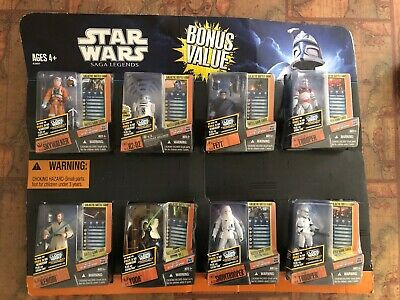 Star Wars CLONE WARS Saga Legends Walmart Exclusive 8 Figure Pack 2012